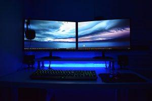 set-of-computer-monitors